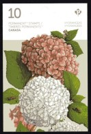 CANADA  2016,  2900a, FLOWERS: HYDRANGEAS,  Bklet Of 10 Stamps. Mnh - Full Booklets