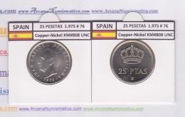 SPAIN/JUAN CARLOS I    25  PESETAS  Cu Ni  1.975 #76    KM#808    SC/UNC  T-DL-9419 - 25 Pesetas