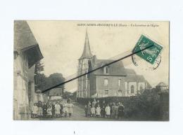 CPA - Saint Aubin D´Escrosville - Un Carrefour  De L'église - Saint-Aubin-d'Ecrosville