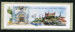"""Timbre**de Dist. De 2014 """" *0,61  € - 68e Salon Philatelique D´Automne - PARIS  """" - 2010-... Abgebildete Automatenmarke"""