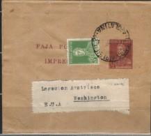 ARGENTINIEN - Streifband Nach Washington -Austria Press - Ganzsachen