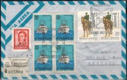 ARGENTINIEN 1967 - Luftpost  Rekobrief Mit MiNr: 867+1006 Paar+1007 4er SStmp. - Argentinien