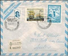 ARGENTINIEN 1970 - Luftpost Rekobrief Mit MiNr: 1065+1068+1085 - Argentinien