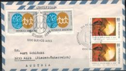 ARGENTINIEN 1978 - Luftpost Rekobrief Mit MiNr: 1354 Paar +1355 2x - Argentinien