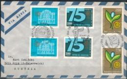ARGENTINIEN 1978 - Luftpost Rekobrief Mit MiNr: 1391 2x + 1392 2x + 1393 2x SStmp. - Argentinien
