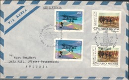 ARGENTINIEN 1978 - Luftpost Rekobrief Mit MiNr: 1401 2x + 1402 2x  SStmp. - Argentina