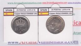 SPAIN /JUAN CARLOS I    25  PESETAS  Cu Ni  1.975 #78    KM#808    SC/UNC     T-DL-9421 - 25 Pesetas