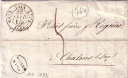 DROME - TAIN - T11 LE 23 FEVRIER 1832 - LETTRE DES ETS MARKES & FILS A TAIN - AVEC SIGNATURE - CAD INDICE 11 COTE 80€ - Marcophilie (Lettres)
