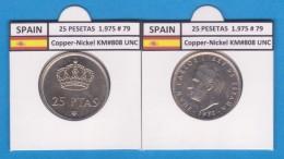 SPAIN/JUAN CARLOS I    25  PESETAS  Cu Ni  1.975 #79    KM#808    SC/UNC     T-DL-9422 - [ 5] 1949-… : Royaume