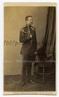 CDV Ghémar Frères, Photographes Du Roi, Bruxelles. Portrait D'un Militaire. - Non Classés