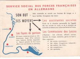 Bc - Cpsm Grand Format Service Social Des Forces Françaises En Allemagne - Zonder Classificatie