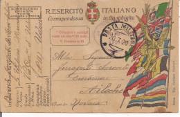 R.ESERCITO ITALIANO,FRANCHIGIA,POSTA MILITARE 1-5'UFFICIO MUNIZIONI UDINE,REGIE POSTE UDINE- CREVACUORE,AILOCHE,NOVARA - 1914-18