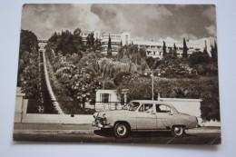 RUSSIA, Sochi VOROSHILOV SANATORIUM - Old Vintage Postcard  - 1958 CONSTRUCTIVISM - Taxi Car - Taxi & Carrozzelle