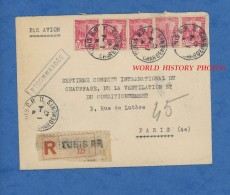 Enveloppe Ancienne - TUNIS ( Tunisie ) - Maison RICANO  - Envoi En Recommandé - 1947 - Tunisia (1888-1955)