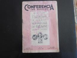 """CONFERENCIA""""LES ANNALES""""LES TURCS-GENIE FRANCAIS & FOI-MESSAGE DE LA FEMME-CUISINE-LETTRE à MARIE-FINANCES DE GUERRE-WW2 - Periódicos"""