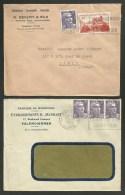 Lot 2 Lettres à Entete Commerciale / VALENCIENNES - NORD / 1952 - Postmark Collection (Covers)