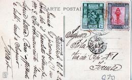 "CARTOLINA POSTALE-""PALAIS ARABE""-GIARUB-28-2-1926-SPEDITA A FIRENZE - Libia"