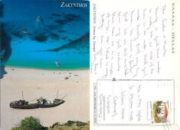 Ormos Ag Georgiu, Zakynthos, Greece Postcard Posted 1992 Stamp - Greece