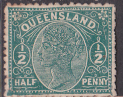 """1890-96. Australian States, Queensland. """"Third Sideface"""". 1/2d.  Green. Queen Victoria. F.U. - 1850-1906 New South Wales"""