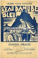 CAF CONC STRAUSS PARTITION LE BEAU DANUBE BLEU RARE ALTERNATIVE VIENNE PLEAU MASSON ILL ROGINO ? LYON ORGERET - Musique & Instruments
