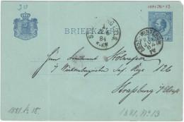 OLANDA - NEDERLAND - Paesi Bassi - 1884 - 5 Cent - Carte Postale - Postal Card - Intero Postale - Entier Postal - Pos... - Postal Stationery