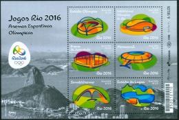 BRAZIL 2016  -  Rio 2016  - Olympics Arenas -  Minisheet  6 V   - Mnh - Brasilien