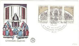 CITTA' DEL VATICANO - VATIKAN CITY - 1974 - 7º Centenario Della Morte Di San Tommaso D´Aquino - FDC - FILAGRANO - FDC