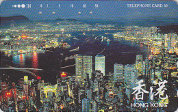 Télécarte Japon / 110-69701 - Site HONG KONG / CHINA - Night View - Japan Phonecard Telefonkarte - 19 - Landscapes