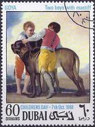 Dubai 1968 - Boys With Mastiff : Painting By Goya ( Mi 323C - YT 100.1 ) - Chiens
