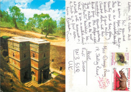 Underground Church, Lalibela, Ethiopia Postcard Posted 2013 Stamp - Ethiopie