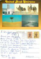 Multiview, UAE Postcard Posted 1995 Stamp - Emirati Arabi Uniti