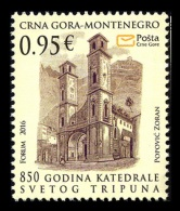 Montenegro 2016 Mih. 392 Cathedral Of Saint Tryphon In Kotor MNH ** - Montenegro