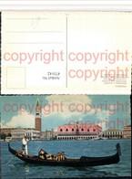 473142,Veneto Venezia Venedig Panorama E Gondola Gondel - Cartoline
