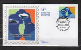 """MONACO 2000 : Enveloppe 1er Jour En Soie """" SANCTUAIRE POUR LES MAMMIFERES MARINS """" N° YT 2287. Parf. état. FDC - Mammifères Marins"""