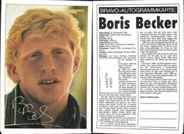 478091,Sportler Boris Becker Bravo-Autogrammkarte Tennis - Sportsmen