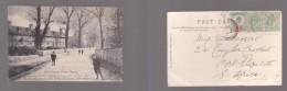 England:Alms Houses, Friern Barnet, Used 1910, Hooded  LONDON W.L.O. > S.Africa - London Suburbs
