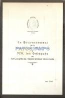 54331 ARGENTINA GOBERNANTES Y DELEGADOS XI CONGRESO UNION POSTAL UNIVERSAL UPU AÑO 1939 MENU NO POSTAL POSTCARD - Unclassified