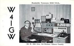 Amateur Radio QSL - W4IGW - Humboldt, TN -USA- 1967 - 2 Scans - Radio Amateur