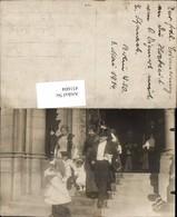 451604,Foto AK Berlin 1914 Hochzeit Brautpaar Kinder - Hochzeiten