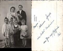451616,Foto AK Hochzeit Hochzeitsfoto Braut Schleier Kinder - Hochzeiten