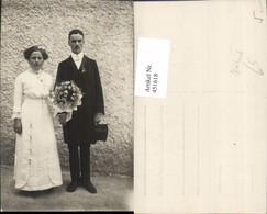 451618,Foto AK Hochzeit Hochzeitsfoto Braut Bräutigam Brautstrauß - Hochzeiten