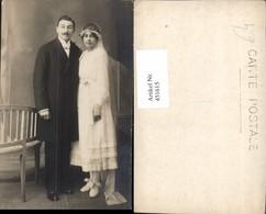 451615,Foto AK Hochzeit Hochzeitsfoto Braut Bräutigam Schleier - Hochzeiten