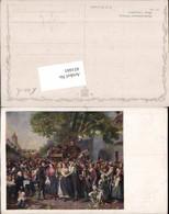 451601,Künstler AK F. G. Waldmüller Perchtoldsdorfer Hochzeit Tracht - Hochzeiten