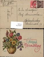 451606,Künstler AK Illburger Glückwunsch Zur Vermählung Blumen Vase - Hochzeiten