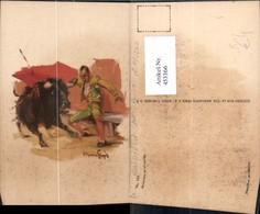 453366,Künstler Ak Hecho En Mexico Muletazo En El Estribo Stierkampf Sport - Stierkampf