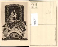 451805,Künstler AK M. V. Schwind Geständnis Paar Engeln Geige Pub Wiechmann 4007 - Engel