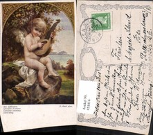 451816,Künstler AK D. Hock Ein Liebeslied Engel Gitarre Pub B.K.W.I. 1553 - Engel