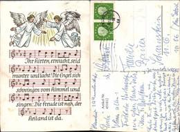 451812,Künstler AK Liedkarte Engeln Liedzeilen - Engel
