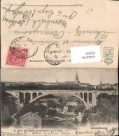 452301,Luxembourg Le Pont Adolphe Et Boulevard Du Viaduc Teilansicht Brücke - Ansichtskarten