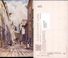 453932,Künstler AK Charles E. Flower Quebec Little Champlain Street Pub Tuck 7386 - Quebec